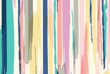 Stripes | Beautiful Surface Designs with Stripes by Indie Designers / Stripes in all colors and sizes!  Beautiful hand drawn, hand painted, or digitally created stripe designs on fabric, wallpaper, and gift wrap.  These stripe designs range from bold black and white stripes to subtle floral designs on striped backgrounds.  Perfect for home decor, clothing, and gifts.  #stripes #design #surfacedesign #create #creative #designer #striped #wardrobe