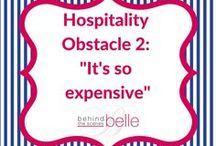 """Hospitality Obstacle 2: """"It's so expensive"""" / Part 2 of a 5 part series on overcoming hospitality obstacles: """"It's so expensive."""" The good news is that everyday hospitality - having friends, family or even new neighbors over for fun and fellowship - does not have to be expensive at all. Check out these quick tips and curated Pinterest boards from Behind the Scenes Belle."""