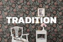 Tradition - Sandberg / Sandberg Wallpaper's new collection Tradition is a cultural-historical narrative about the walls that are the backdrop to our lives.