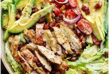 SALAD RECIPES / Mom's Dinner Salads. The healthier side of Mom's Dinner. Great greens based dinner ideas.