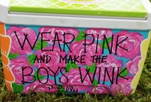 coolers / {to fuel your cooler painting addiction} images are not mine unless otherwise specified. / by Bows, Pearls, & Sorority Girls