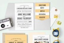Pocket Wedding Invitations / Selecting the perfect invite can be a difficult.  Pocket wedding invites help add a certain elegance to any wedding set.  See different examples of color schemes and designs.
