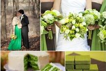 Green Wedding Inspiration / Green elegant and chic haute couture, designer gowns, casual dresses, street style, shoes and accessories.  Catwalk style, Red Carpet style, celebrities style. Featuring Armani, Valentino, Elie Saab and many others