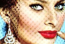 Old Hollywood Glamour / Old Hollywood Glamour, Retro Glam Style, Vintage Glamorous Style Inspiration:  Audrey Hepburn, Marilyn Monroe, Sophia Lauren, Grace Kelly...
