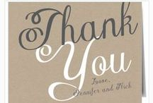 Wedding Thank You Cards / Wedding thank your cards are one of the most important items on any wedding checklist.  Taking time to tell those people in your life that are the closest to you that you appreciated them helping you celebrate your special day doesn't go unnoticed.