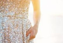 Gold Wedding / Gold Wedding gowns adorned with sparkling details, sequings, beads for a touch of glam! Shoes, decorations, cakes, Gold Color Scheme, Gold Palette, #GoldWedding Planning Inspiration Board