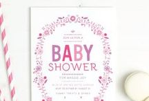 Baby Shower Invitations / Customize any of these baby shower invitations to your hearts content with over 150 different color options per card and your choice or a pattern, color, photo, text or combination of any of the above as the back of the card.