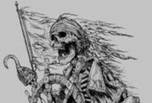 Skull and Pirate art and design ideas. / A resource for reference ideas and motivation.