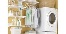 HOME | laundry room / Putting together a beautiful laundry room in your home may almost make doing laundry fun!