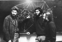 Blackboard Works of Art / Math formulas, theories, and ideas written on a blackboard