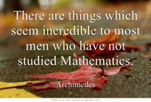 Math Quotes / Knowledgeable, insightful, and inspirational quotes about math and science