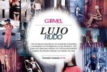 Lujo rudo / Una tendencia inspirada en los ambientes industriales contrastados con la elegancia y el lujo femenino. Una colección ideal para mujeres con mucha personalidad, cargada de prendas urbanas con toques muy sexy.