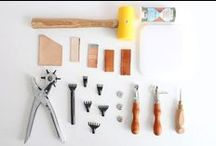 Leathercraft Lessons / Learn the basics of handmade leathercraft through this series of tutorials and videos!  You'll be a leatherworker in no time!