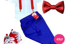 Zestawy dla chłopca / Spodnie szelki muchy koszulobody