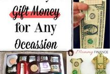 Gift Ideas! / Fun ways to gift money, gift presents, cheap gift ideas, creative ideas, frugal gift ideas, what to gift, special occasion, date nights, date night ideas and more!