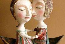 趣♪  陶器人形