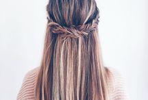 ( Hair style* )