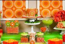 Citrus Dessert & Candy Table / Green and Orange Dessert Table