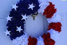 Red, White & Blue-July 4th-Patriotic Holiday / All Things American /Memorial Day, Flag Day, Veterans Day and the 4th of July / by Joani Jackson