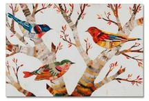 Birds of a Feather / Our exhibition for the Inaugural LIGONIER ART WALK on May 10, 2014. #LigonierArtWalk / by G Squared Gallery