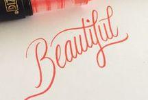Modern calligraphy / Modern calligrapy ideas