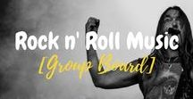Rock n' Roll Music [Group Board] / Long live Rock n' Roll! Pin your favorite Rock n Roll artist, bands, and everything related to rock n' roll music. Just comment down for those who wish to join and contribute to this group.