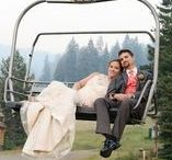 Ski Themed Weddings / The two of you love hitting the slopes so much, you can only imagine getting married in the mountains. Check out these ideas for your ski themed wedding!