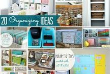 Let's Get Organized! / Ways to get our lives and homes organized so I don't loose my mind :-)