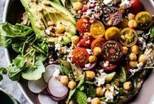 Summer Salad Recipes / Inspiration for seasonal summer salad recipes!│whole foods, recipes, easy, simple, seasonal, in season, healthy, clean eating, eat clean, vegetarian, paleo, gluten-free, locally sourced, local, locavore