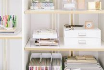Home: Office / Office envy: organization & styling for a fantastic and functional workspace