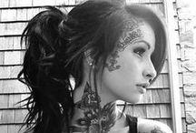 Tattooed Broads / Inky women, splendid.