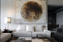 interiors with abstract art