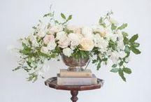 Wedding: Floral Arrangements / Centerpieces, floral accents & vase inpsiration