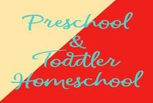 Preschool/Toddler Homeschool / Resources and ideas for toddlers/preschoolers