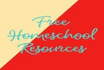 Free Homeschool Resources / These are homeschool resources that were free at the time of pinning.
