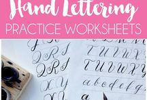 BUJO ~ Handwriting & Lettering / Lots of resources and inspiration for hand lettering and brush lettering in your bullet journal.