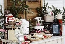 Hot Chocolate Bar / Fun ways to set up a hot cocoa station during the winter. Just add a little Bailey's and Kahlua for the big kids to enjoy...