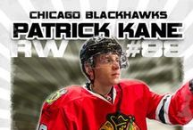All things Hockey! / Pinning our Hockey Nations series, Chicago Blackhawks, Patrick Kane...Let's go!
