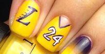 Basketball Nails / NBA themed Nails #NailArt