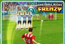 Football Kicks Frenzy / Frantic head-to-head free-kick battle - impact your opponent with crazy obstacle raising SCORE STREAKS such as The Wall or Hurricane. SWIPE, SHOOT AND RULE! Play against REAL PLAYERS from around the World.  Load up your arsenal with the most explosive loot to throw your opponents off their game.  Score goals to kick off a streak, which will trigger mayhem at your opposition's goal. Stir up frenzy of distraction, while racking up points to win the prize pot.  fnky.link/fkfrenzy