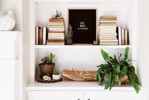 Bookshelf Ideas / Inspirational home decor and books