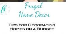 Frugal Home Decor / Need ideas for a lovely, cozy home on a budget? Check out this board for Ideas for frugal, beautiful home decor inspiration.   If you are a blogger and want to be added to this board, please email us at curbsideoverhaul@gmail.com