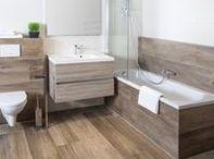 JVE badkamer forest concept / Houtlook badkamer. Ook deze vind u in onze showrooms.