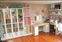 craft room ideas / Great craft/office room ideas.