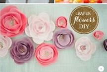 FABRIC AND PAPER FLOWERS / DIY Flowers / by From the Cottage