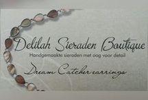 Dream catcher earrings / Droomvanger oorbellen / Droomvanger oorbellen handgemaakt door Delilah Sieraden Boutique. Handmade dream catcher earrings. Made by Delilah Sieraden Boutique at https://www.oorbellenboutique.nl