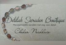 Choker Necklace / Choker ketting / Chokers handgemaakt door Delilah Sieraden Boutique. Choker Necklaces handmade by Delilah Sieraden Boutique. https://www.oorbellenboutique.nl