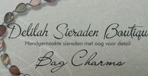 Bag Charms / Tashangers / Bag Charms made by Delilah Sieraden Boutique. https://www.oorbellenboutique.nl