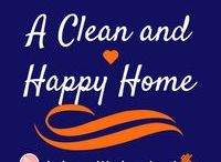 A Clean and Happy Home / Here are tips and tricks to cleaning up your work area, home, etc. A clean area makes for a happy momma!