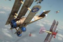 ww1 planes and zeppelins
